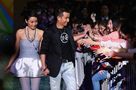 Wen Zhang with wife Ma Yili